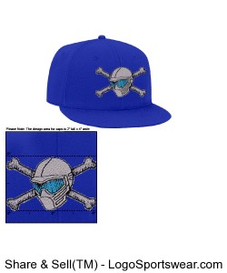 Wool Blend Flat Bill Pro Style Snapback Cap Design Zoom